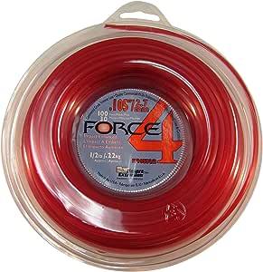 Force 4 .105 英寸 x 100 英尺线轴中程商业级圆形 1/2 磅草坪修剪器线,红色 #FF105D1/2-12