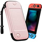Fintie 手提包适用于 Nintendo Switch - [超薄] 防震硬壳保护套便携袋 w/10 个游戏卡槽和手…