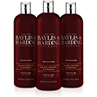 Baylis & Harding 荷荷巴/丝绸/杏仁油保湿沐浴乳,500 毫升,3 件装 500 Milliliters
