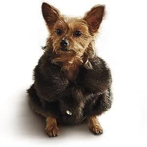 Frontgate Faux Fur Pet Jacket, Channeled Mink, X-Large