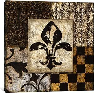 iCanvasART 9147-1PC6-18x18 Fleur de Lis Canvas Print by Daphne Brissonnet, 1.5 x 18 x 18-Inch