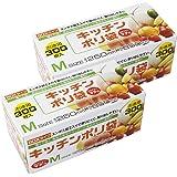 HOUSE HOLD JAPAN 厨房塑料袋 半透明 约35 x 19厘米 扣眼盒装 压花以防止滑倒并易于取出KB18 300个装 2组