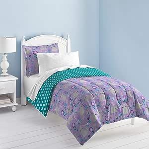 dream FACTORY 猫花园被子套装,单人床,灰色
