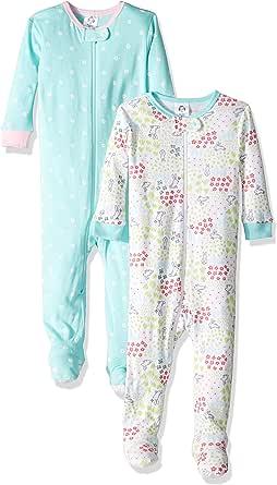 Gerber 女婴连脚睡衣 2 件套
