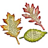 Sizzix Bigz 冲孔 Tim Holtze Tattered Leaves,多色