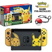 Nintendo 任天堂 Let's Go Pikachu 皮卡丘限量版 精灵宝可梦 Switch+ Let's Go Pikachu游戏+ Pokeball Plus 精灵球
