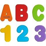 Munchkin 洗澡戏水认知漂浮玩具字母数字益智贴片,36 片 小学 36份