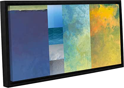 ArtWall Jan Weiss Textured Earth Panel I Gallery-Wrapped Floater-Framed Canvas Artwork, 18 by 36""