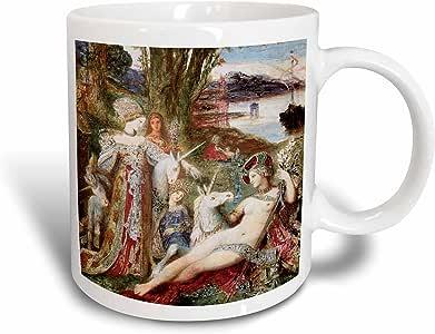 3dRose mug_129821_2 The Unicorns By Gustave Moreau Ceramic Mug, 15-Ounce
