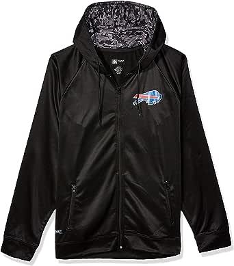 Zubaz NFL Buffalo Bills 男士全拉链连帽衫 黑色 大