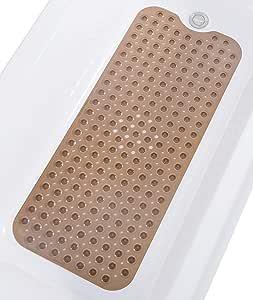 Tike Smart 优质浴缸垫 - 长,超长 透明棕色 两个 XL