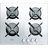 惠而浦燃气炉灶 带 4 炉灶AKT6400WH,不锈钢