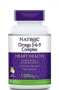 Natrol Omega 3-6-9 Complex Softgels, 90 Count