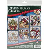 """Home For Christmas Ornaments Counted Cross Stitch Kit-3.5""""X4"""" 14 Count Set Of 6"""