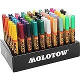 Molotow One4All 127HS 显示套件完整,70 个丙烯酸标记,2 mm 尖头,各种 MO200188