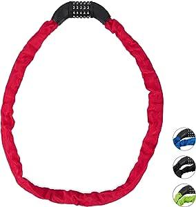 Relaxdays 自行车密码锁 *链锁 带5位数字代码 自行车锁 钢制自行车锁 10026006_47