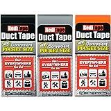 RediTape 基本口袋尺寸管道胶带 黑色、橙色、银色 3 Pack 10932