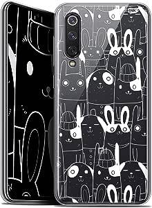 Caseink 手机套适用于小米 Mi 9 SE (5.97) 保护壳凝胶高清 [ 法国印刷图案 - 防震]CRYSPRNTMI9SERABBITSWHI  Xiaomi Mi 9 SE Xiaomi Mi 9 SE Lapin Blanc
