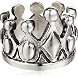 King Baby 男士纯银皇冠戒指,尺寸 10
