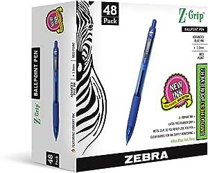 Zebra Pen Z-Grip Retractable Pen, 48-Pack, Blue (22248)