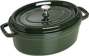 Staub 珐宝 珐琅铸铁锅 椭圆形炖锅 31cm 罗勒绿