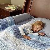 [1 件装] hiccapop 学步儿童床轨保险杠/泡沫*护垫 - 侧栏带防水罩 - 幼儿枕头垫,儿童