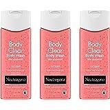 Neutrogena 露得清 Body Clear Acne 沐浴露 含水杨酸粉刺药 粉红色葡萄柚身体*洁面乳 防止背部、胸部和肩部出现痘痘 3 x 8.5 液体盎司(约 7.6 x 21.6 毫升) 盎司