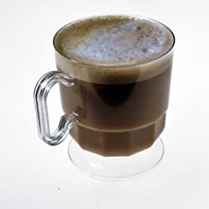 塑料咖啡杯 透明 8盎司