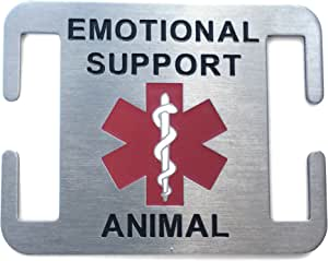 Emotional Support Animal Dog Tag for Service Dogs - Attaches to Collar, Harness, Leash 3/4 Inch
