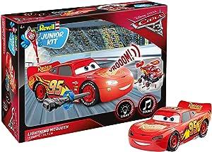 Lightning Revell Junior Kit McQueen 赛车总动员3 组装玩具 00860,适用于4岁以上儿童,手工艺品/游戏,坚固耐用,具有灯光和声音效果