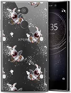 Sony Xperia L2, 5.7 寸保护壳,超薄,兔子图案