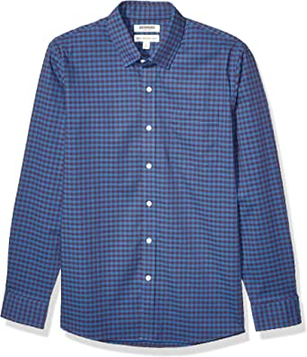 Amazon Brand - Goodthreads 男式标准版型长袖抗皱舒适弹力府绸易于打理
