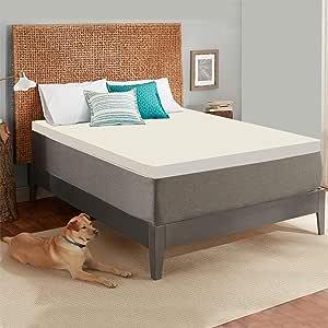 Cool Gel *泡沫床垫全尺寸床垫 - 提供舒适支撑,让您整夜保持凉爽 - 2 英寸厚 Beige and Royal Green 两个 G7033T