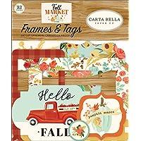 Carta Bella Paper Company CBFAM105025 秋季市场画框和标签 Ephemera、橙色…