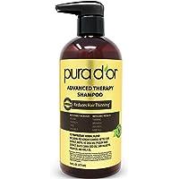 Pura D'or 高级洗发水可减少毛发稀疏并增加发量,无硫酸盐,生物素洗发水注入摩洛哥坚果油,芦荟 适用于所有发质,男女均适用,16盎司/473ml