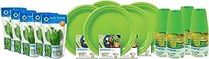 Preserve 120 件便携式餐具套装 苹果绿 6511