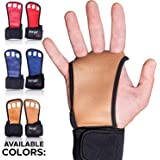 Crossfit 手套体操握把 - 锻炼手套护腕 - 天然皮革承重手套 - 健身手套 交叉训练 - 手握 - 适合男士女…