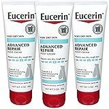 Eucerin 优色林 高级修复轻柔质感护足霜 3 盎司(约 85.0 克)(3件装)(包装可能会有所不同)