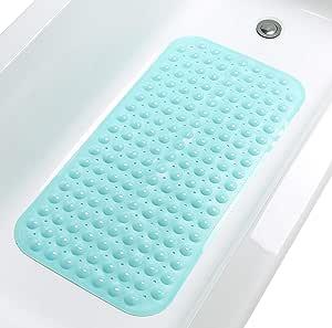 Tike Smart 优质浴缸垫 - 长,超长 Opaque Aqua (Blue-green) 中
