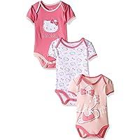 Hello Kitty Baby Girls' Core Pink Carnation Bodysuits