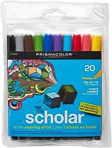 Prismacolor 1774269 学者艺术水彩笔,子弹头,多色,20支