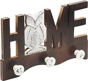 'Master Vintage 355 x 225 mm ✓ MDF Owl Hook Rail ✓ 3 个圆形挂钩' Home 'Word ✓ 复古用途/外套架/外套挂钩/外套挂钩/外套挂钩/外套挂钩/外套挂钩/毛巾挂钩/毛巾挂钩 - 通用 - 261877