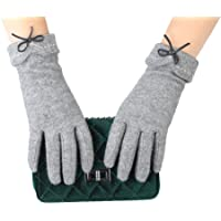 PotomacRose 女士冬季手套触摸屏羊毛厚时尚纺织品驾驶