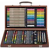 111 件木箱绘画、素描和涂鸦套件