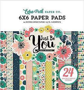 Echo Park Paper Company JBY119023 Just Be You 纸垫,15.24 x 15.24 cm 原版 6-x-6-Inch JBY119023