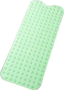 Tike Smart 优质浴缸垫 - 长,超长 Transparent Light Green 两个 XL