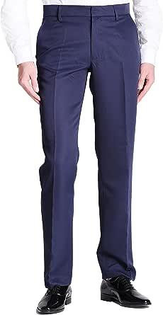 Vero Viva 男式直筒修身正装长裤商务休闲裤