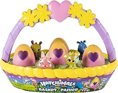 Hatchimals CollEGGtibles 带有6个魔法蛋的复活节玩具篮子