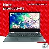 Lenovo 联想 Chromebook Flex 5 13英寸笔记本电脑,13.3英寸FHD(1920 x 1080)触摸屏,英特尔酷睿i3-10110U处理器,4GB DDR4板载内存,64GB SSD,英特尔UHD显卡,Chrome OS,82B80006UX,石墨灰
