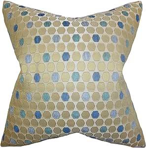 "Pillow Collection Itzel 几何图案欧式枕套黄玉 ""Multi"" Standard/20"" x 26"" STD-M-SPINE-TOPAZ"